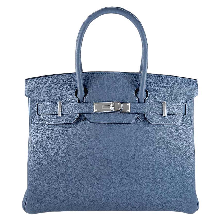 Hermes 30cm Blue Brighton Birkin Bag