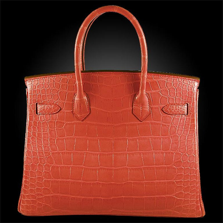 Red Hérmes 30cm Bougainvillier Mississippi Matte Birkin Bag For Sale