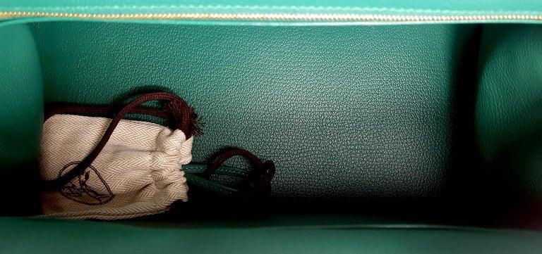 Women's Hérmes 30cm Malachite Togo Calfskin Birkin Bag For Sale