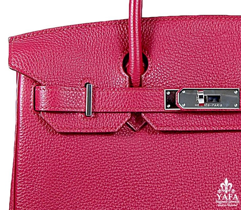 Hermes 30cm Red Birkin Bag In Good Condition For Sale In New York, NY