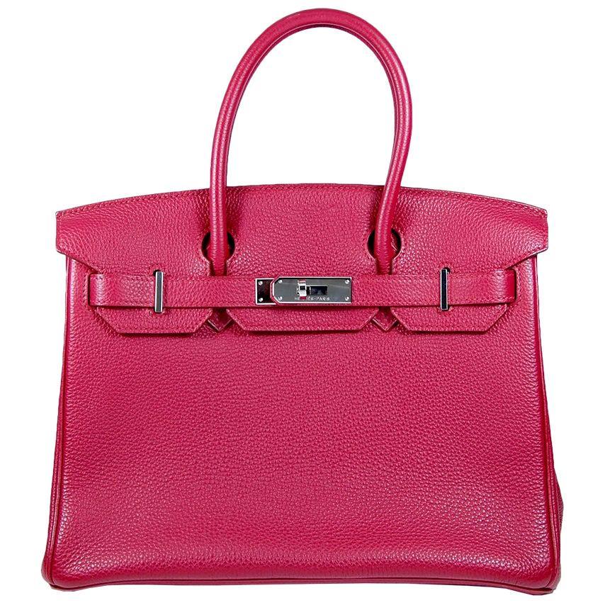 Hermes 30cm Red Birkin Bag