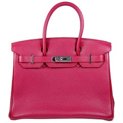 Hermes 30cm Red Birkin Bag