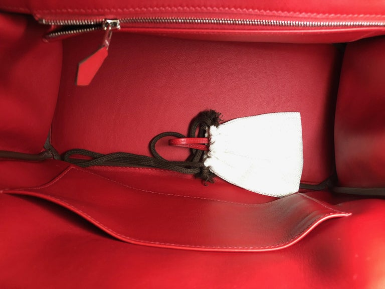 HERMES 30cm Tressage De Cuir Veau Swift Epson Birkin Bag In New Condition For Sale In New York, NY