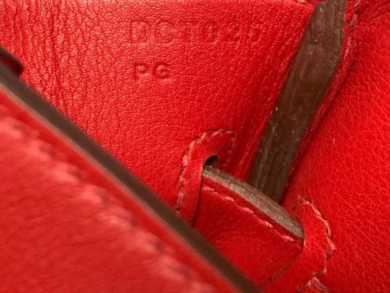 HERMES 30cm Tressage De Cuir Veau Swift Epson Birkin Bag For Sale 2