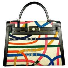 HERMES 32cm Limited Edition Retourne Kelly Bag