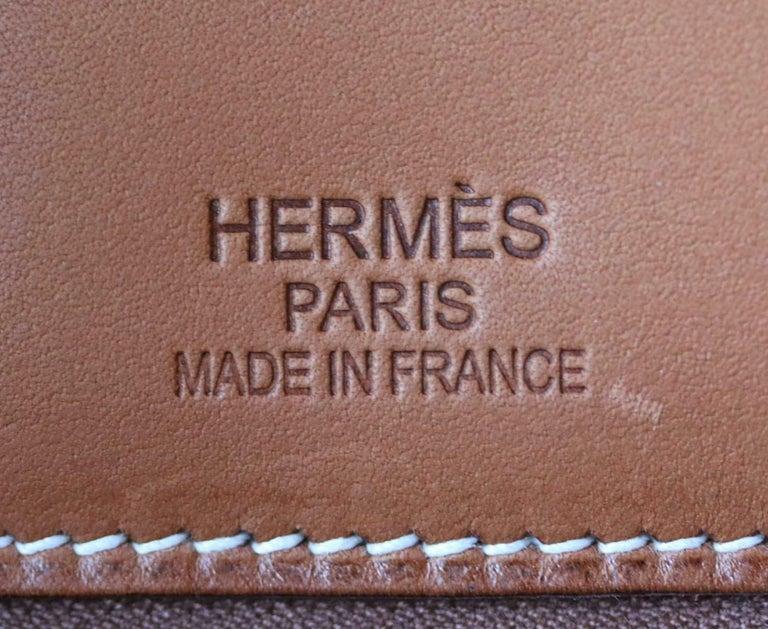 Hermès 35CM Barenia Toile Permabrass H/W Birkin Bag For Sale 4