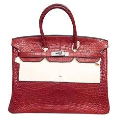 HERMES 35cm Crocodile Birkin Bag