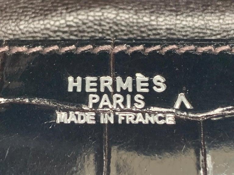 Hermes 35cm Crocodile Cacao Porosus Birkin Bag For Sale 3