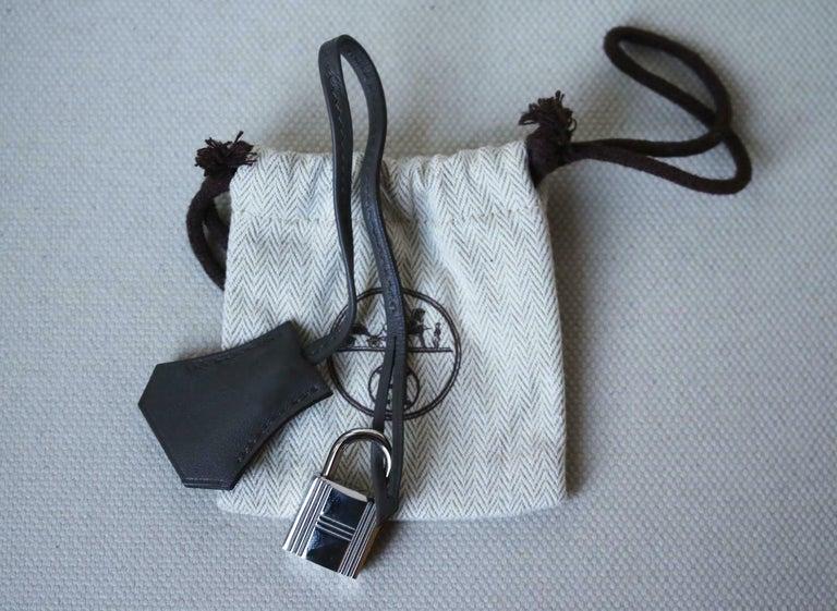 Hermès 35cm Etain Swift Palladium H/W Kelly Retourne Bag For Sale 5