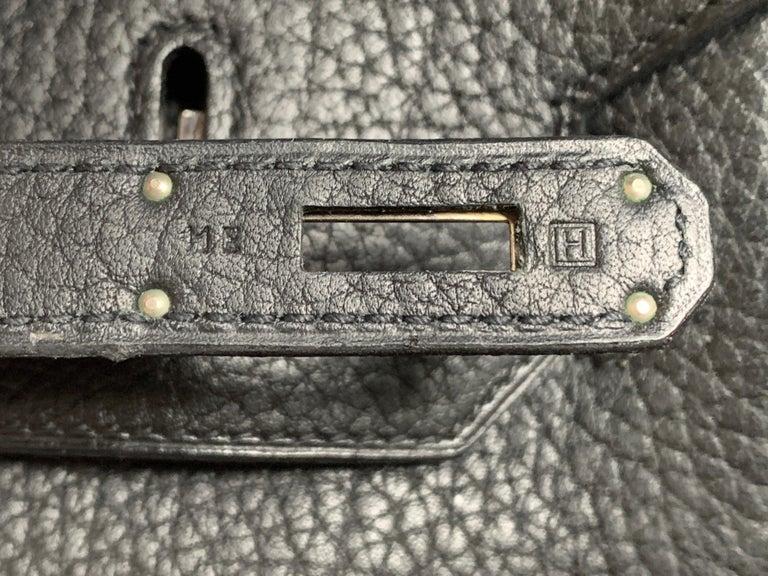 Black HERMES 35cm Noir Togo Leather Birkin Bag For Sale