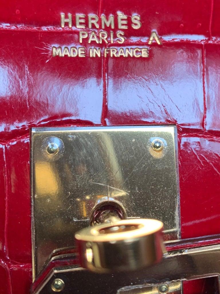 Hermes 35cm Red Birkin Bag For Sale 1