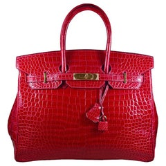 Hermes 35cm Red Birkin Bag