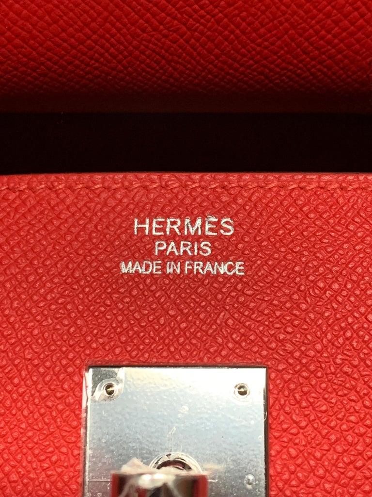 Hermes 35cm Rouge Casaque Birkin Bag For Sale 1