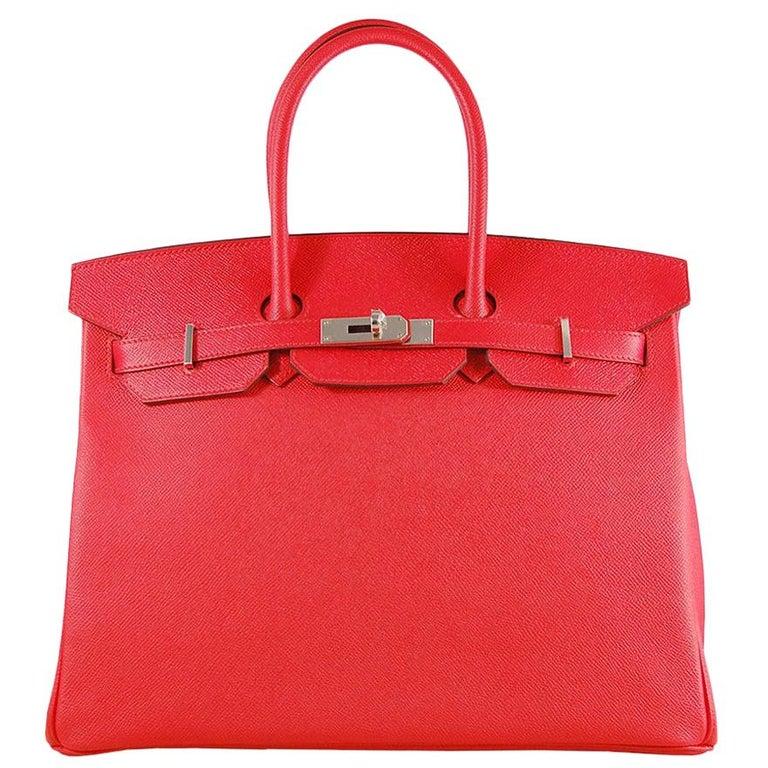 Hermes 35cm Rouge Casaque Birkin Bag For Sale