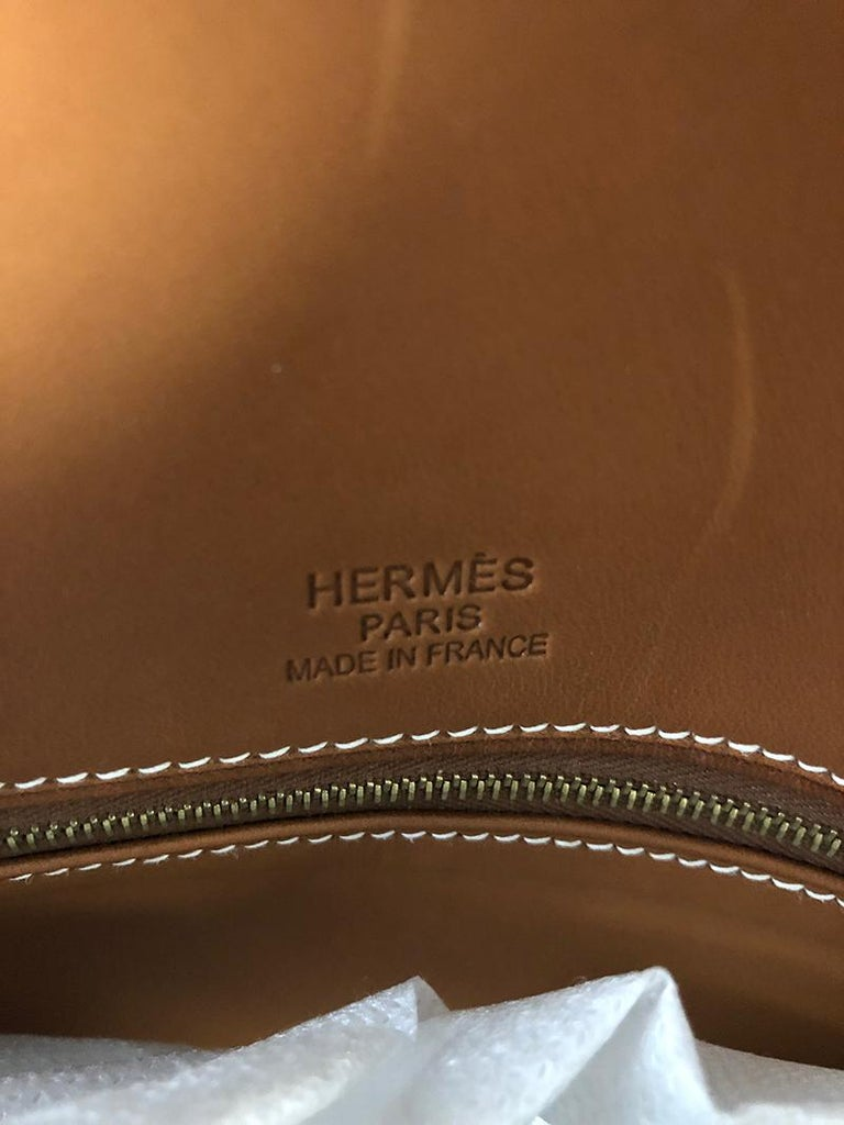 HERMES 40cm Barenia Leather Birkin Bag In Excellent Condition For Sale In New York, NY
