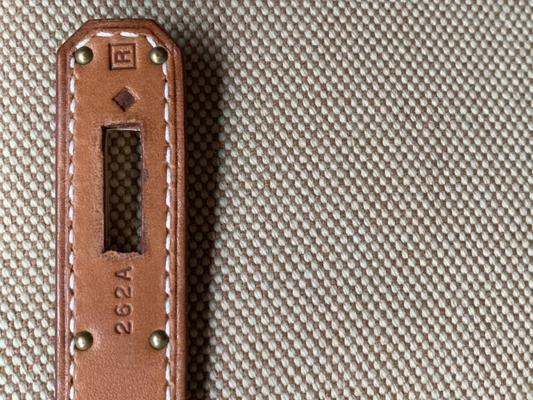 HERMES 40cm Barenia Leather Birkin Bag For Sale 1