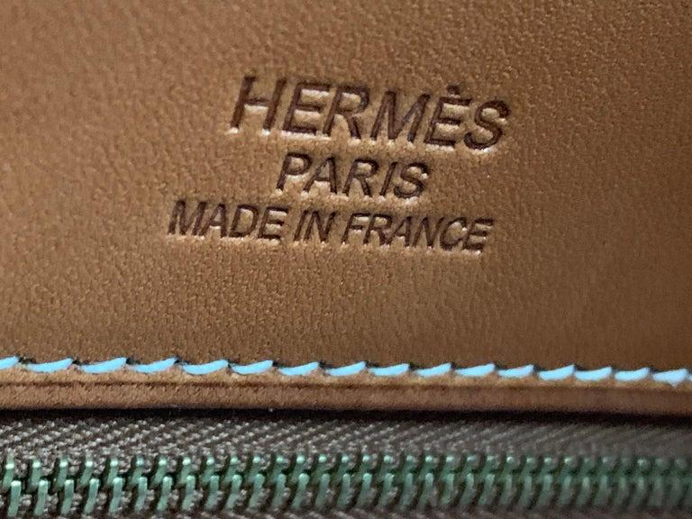 HERMES 40cm Barenia Leather Birkin Bag For Sale 2