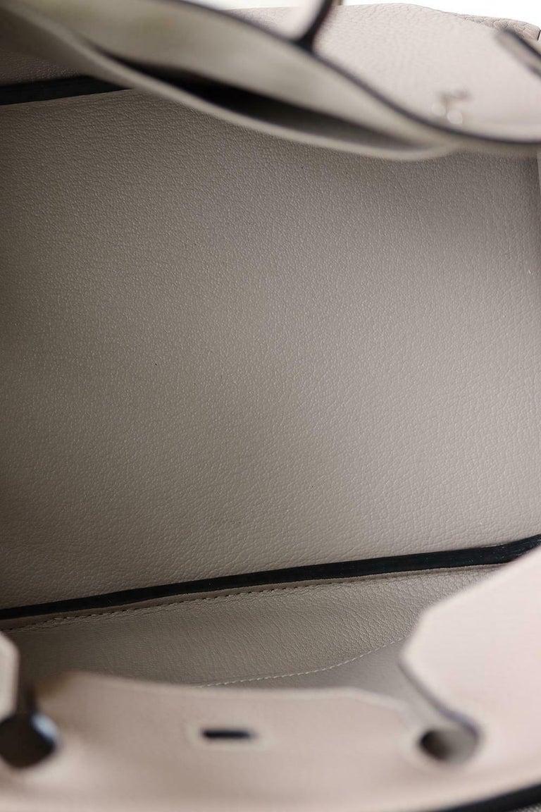 Hermès 40CM Clemence Palladium H/W Birkin Bag For Sale 6