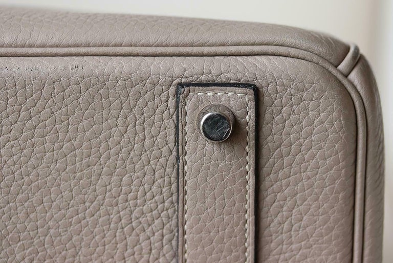Hermès 40CM Clemence Palladium H/W Birkin Bag For Sale 4