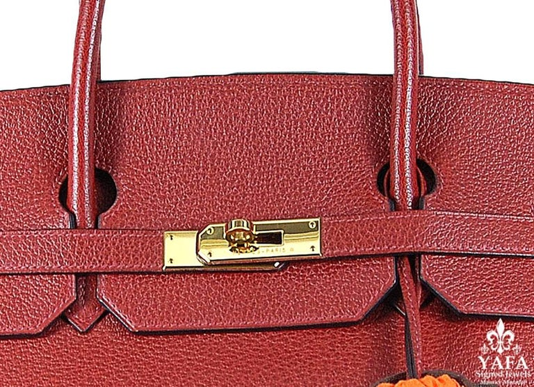 Hermes 40cm Red Birkin Bag In Good Condition For Sale In New York, NY