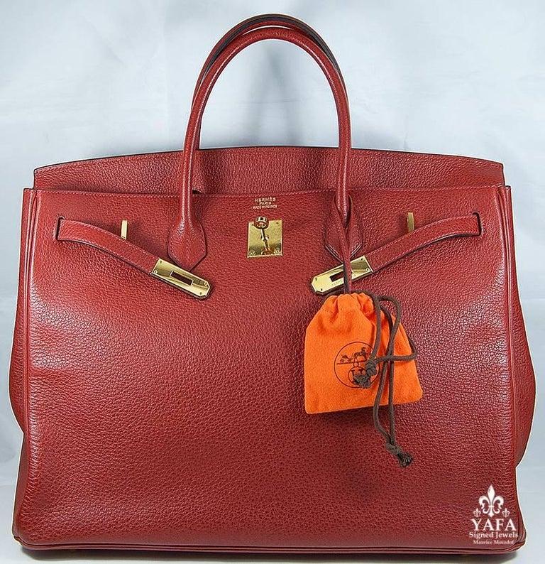 Women's Hermes 40cm Red Birkin Bag For Sale