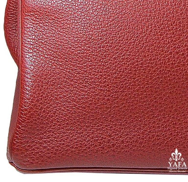 Hermes 40cm Red Birkin Bag For Sale 1