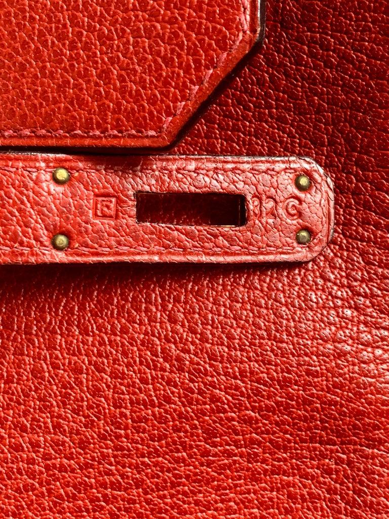 Hermes 40cm Red Birkin Bag For Sale 3