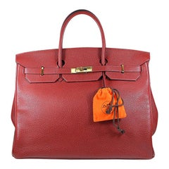 Hermes 40cm Red Birkin Bag