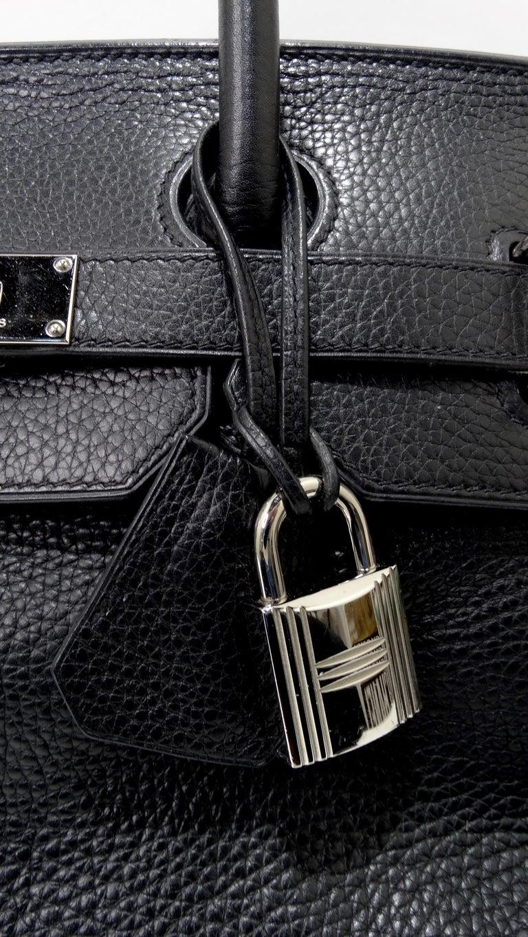 Hérmes 42cm Noir Clemence JPG Shoulder Birkin  For Sale 5