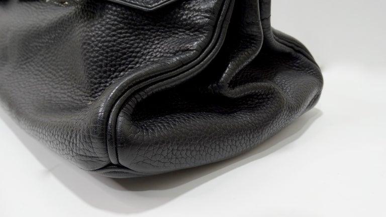 Hérmes 42cm Noir Clemence JPG Shoulder Birkin  For Sale 7