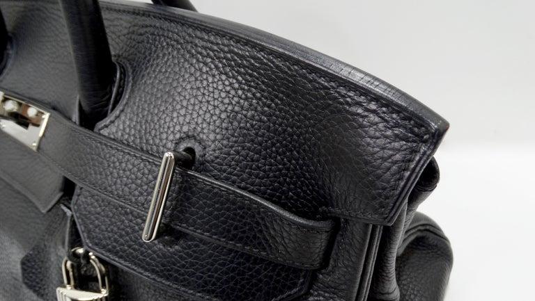 Hérmes 42cm Noir Clemence JPG Shoulder Birkin  For Sale 11