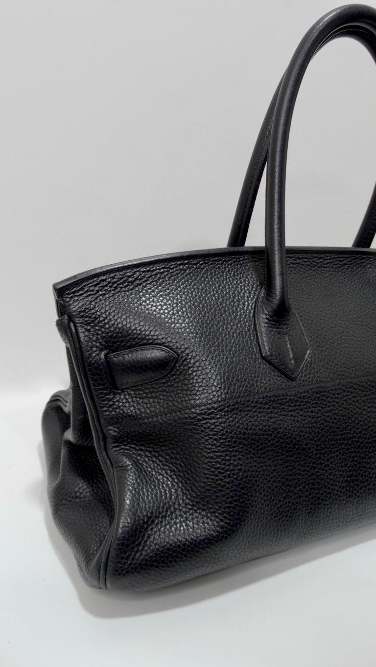 Hérmes 42cm Noir Clemence JPG Shoulder Birkin  For Sale 12