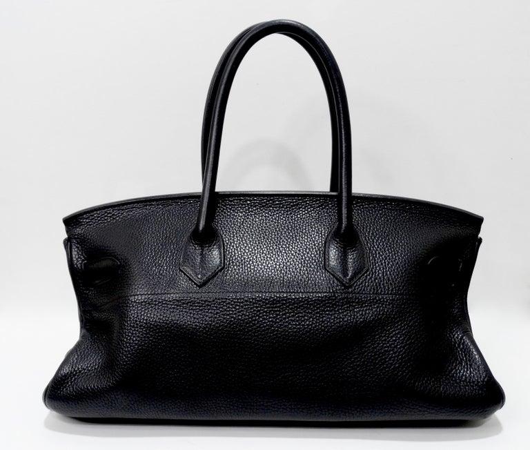 Hérmes 42cm Noir Clemence JPG Shoulder Birkin  For Sale 1