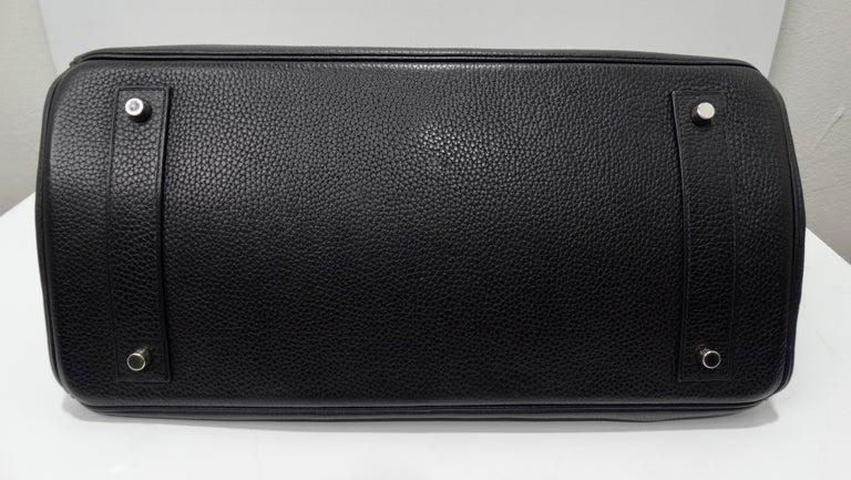 Hérmes 42cm Noir Clemence JPG Shoulder Birkin  For Sale 2