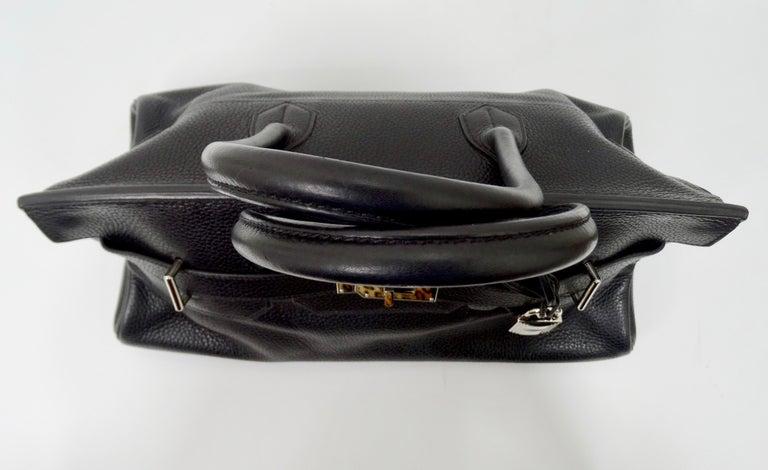 Hérmes 42cm Noir Clemence JPG Shoulder Birkin  For Sale 4