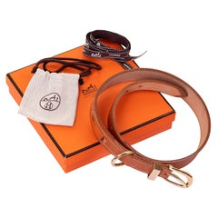 Hermes 70cm Belt in Classic 'Vache Naturelle' with Gold Hardware - Never Worn