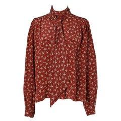 Hermès 70's printed shirt