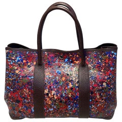 Hermes Pointillism Hand Painted Garden Party 35 Tote