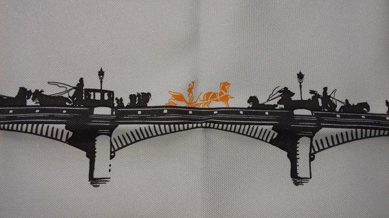 Hermès Air de Paris Carré Gavroche Pochette Paris in the Air Silk Scarf, 2006  In New Condition In ., FR