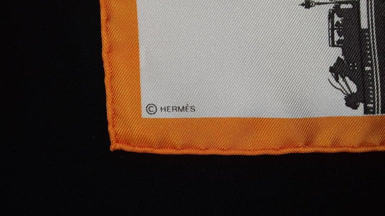 Hermès Air de Paris Carré Gavroche Pochette Paris in the Air Silk Scarf, 2006  3