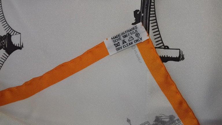Hermès Air de Paris Carré Gavroche Pochette Paris in the Air Silk Scarf, 2006  4