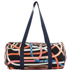 Hermes Airsilk Duffle Bag Printed Silk 38