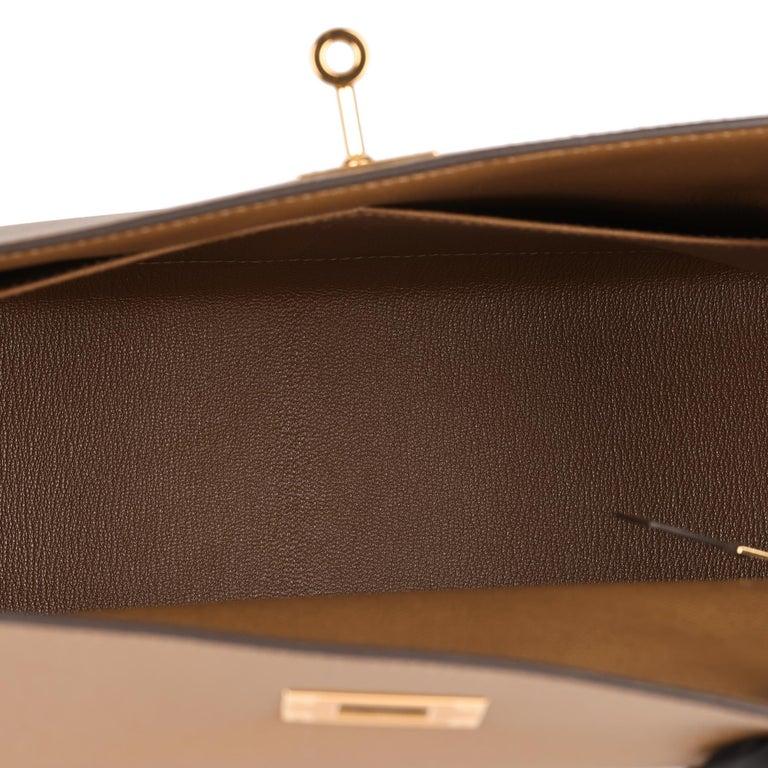 Hermès Alezan Epsom Leather Kelly 28cm Sellier For Sale 5