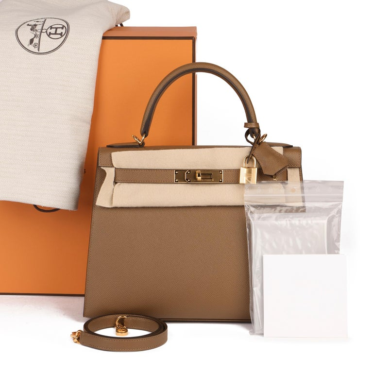 Hermès Alezan Epsom Leather Kelly 28cm Sellier For Sale 6