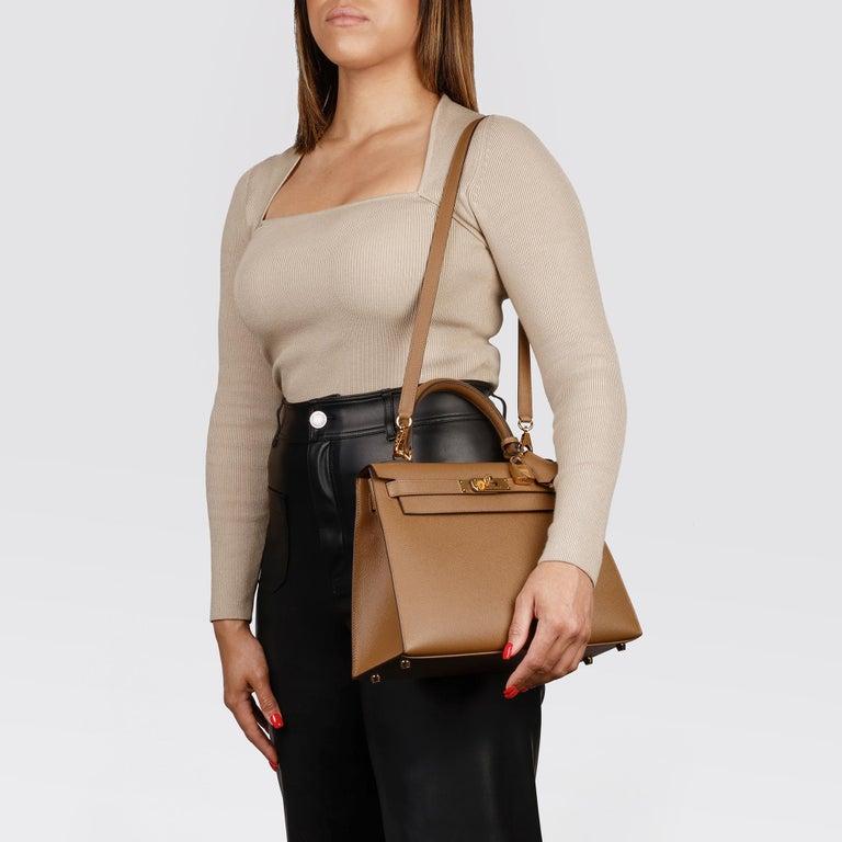 Hermès Alezan Epsom Leather Kelly 28cm Sellier For Sale 7