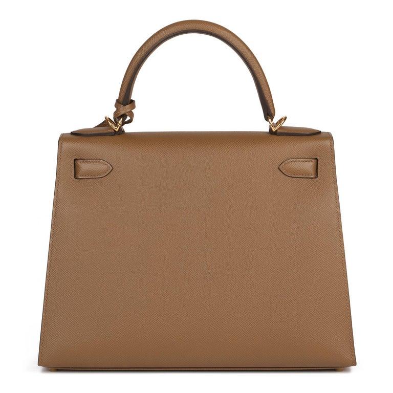 Women's Hermès Alezan Epsom Leather Kelly 28cm Sellier For Sale