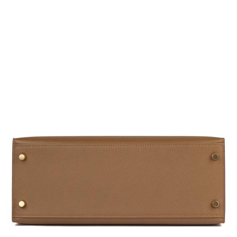 Hermès Alezan Epsom Leather Kelly 28cm Sellier For Sale 1