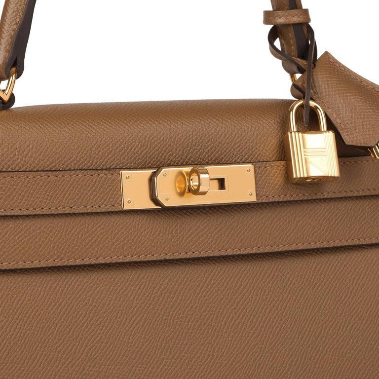 Hermès Alezan Epsom Leather Kelly 28cm Sellier For Sale 2
