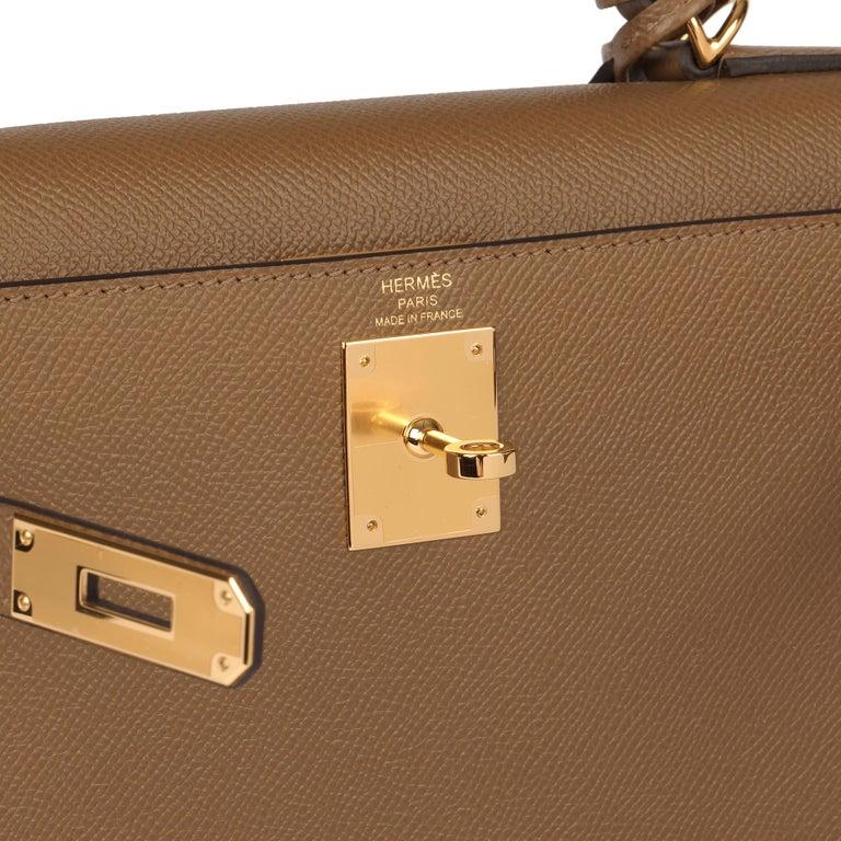 Hermès Alezan Epsom Leather Kelly 28cm Sellier For Sale 3