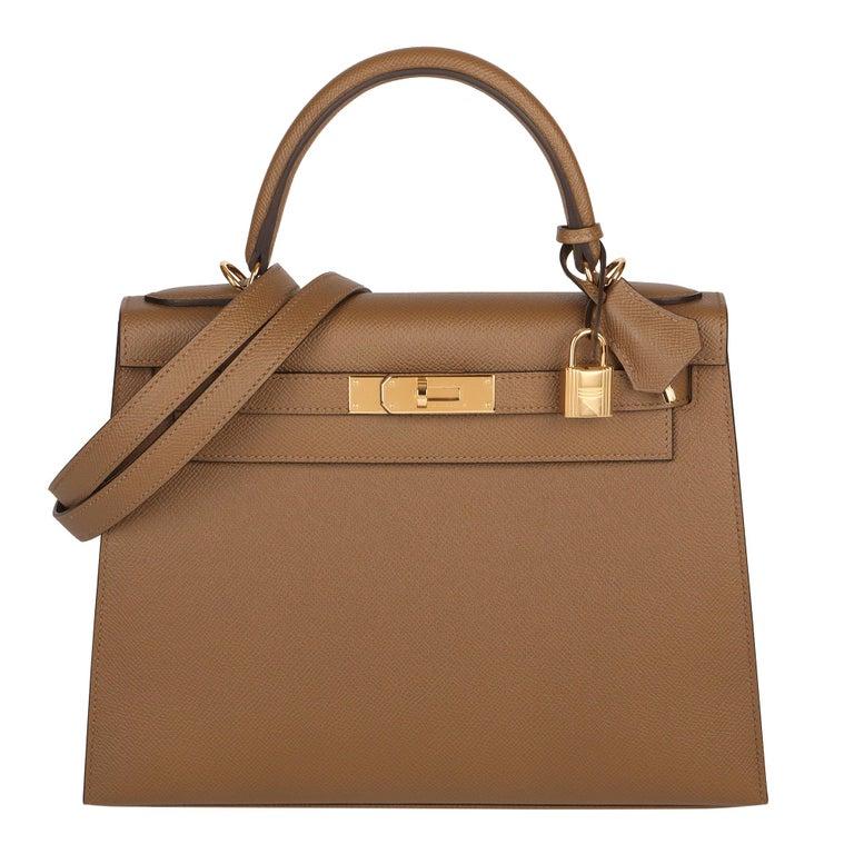 Hermès Alezan Epsom Leather Kelly 28cm Sellier For Sale